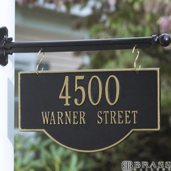 Whitehall - 2 Line Two-Sided Arch Hanging Address Plaques