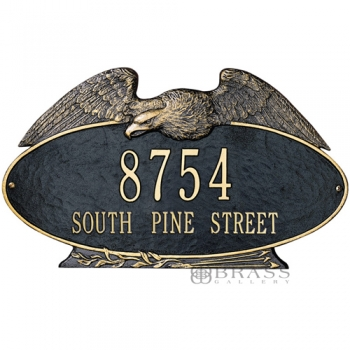 Whitehall - 2 Line Eagle Oval Address Plaques