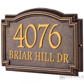 Whitehall - 2 Line Classic Williamsburg Address Plaques