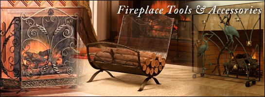 Brass Gallery Fireplace Screens, Tools & Accessories