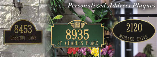 Personalized Address Plaques and House Number Signs